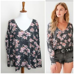 UO Out From Under Floral Oversized Cozy Top! M